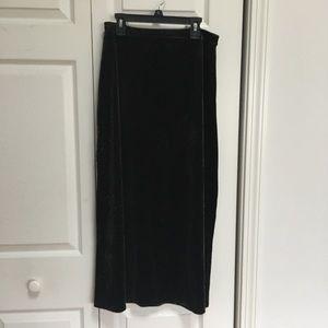 Gorgeous Vintage Paisley Velvet Full-Length Skirt